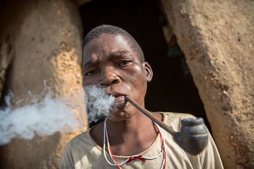 Somba woman smoking a pipe by anthony pappone photographer