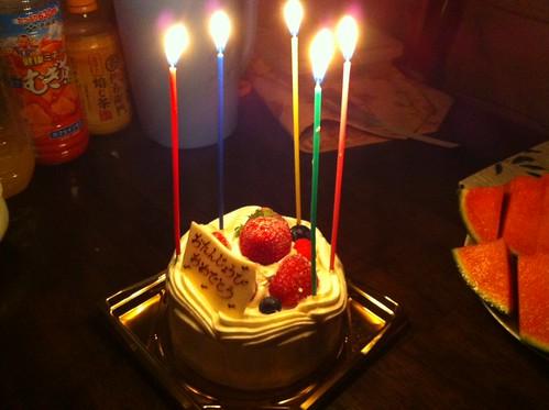 2歳の誕生日おめでとうケーキ