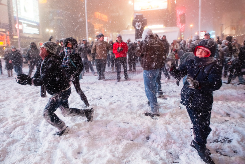 2009 Times Square Snowball Fight