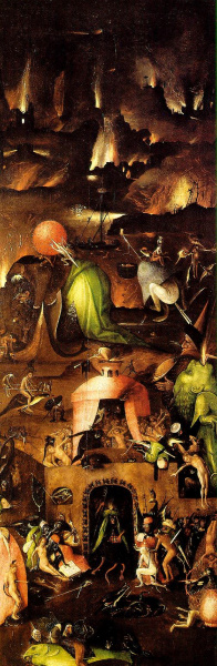 The Last Judgment, Right wing, Hell - 1504, Oil on Panel - Hieronymus Bosch (van Aken, Jheronimus)  (1450-1516) - Akademie der bildenden Künste Wien
