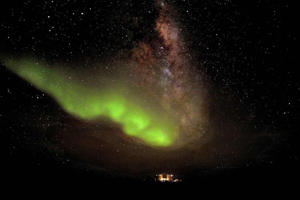 Aurora Australis above Concordia Base