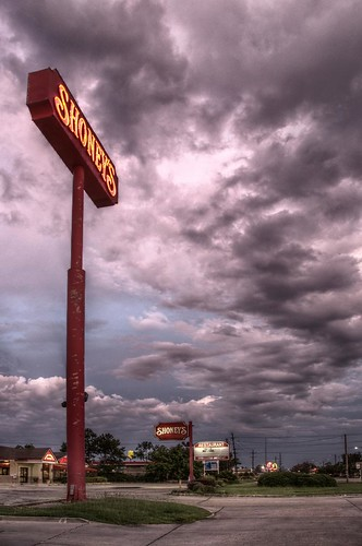 sign clouds dawn slidell louisiana shoneys