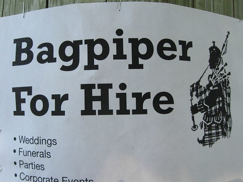 A Bagpiper with an Entrepreneurial Spirit