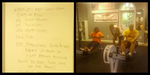 Monday 7-23-12 workout