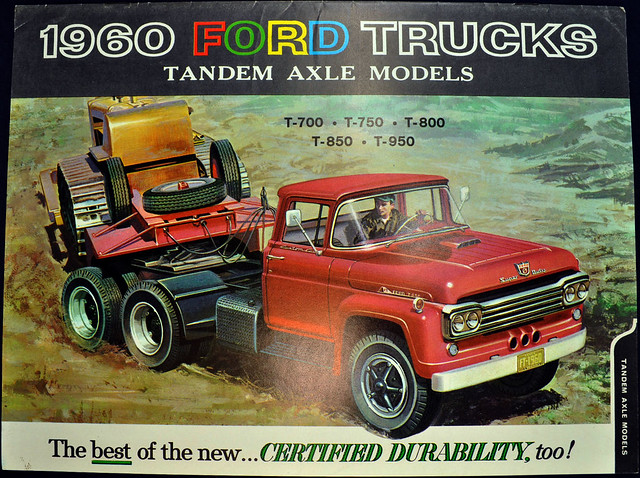 1960 Ford Trucks Brochure - tandem axel models