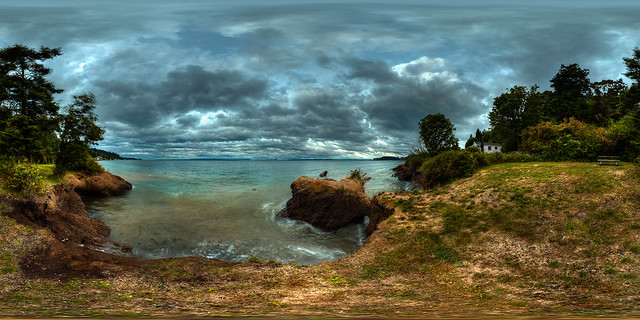Rockaway Beach Park, Bainbridge Island, Dusk, High Tide