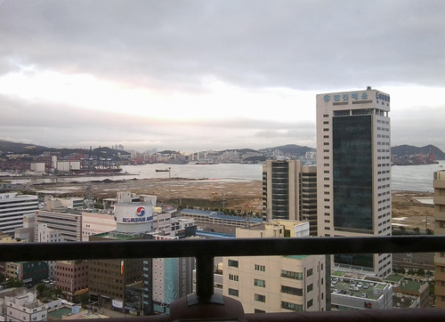 View of Busan from the hotel