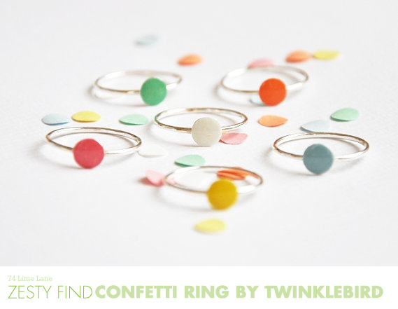 {zesty find} confetti rings by twinklebird
