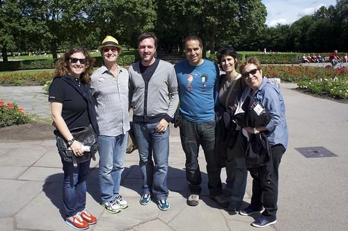 Con Gary Tallent en Parque Vigeland