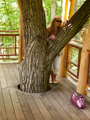 Brenda in the tree house