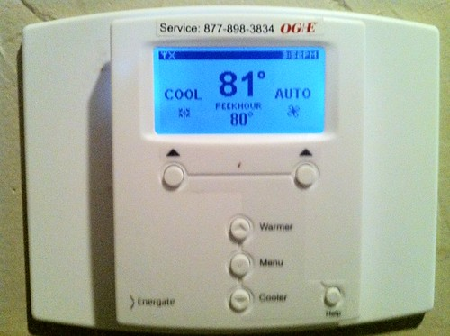 Our smart thermostat from OG&E
