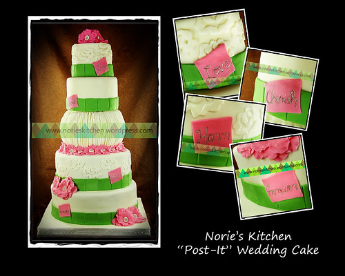 Norie's Kitchen - Post it Wedding Cake by Norie's Kitchen