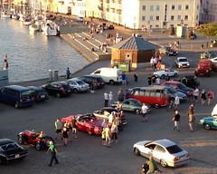Oldtimer cars on the pier in Sonderborg