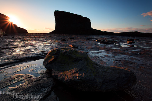 Sunburst At Saltwick Nab by Dave Brightwell
