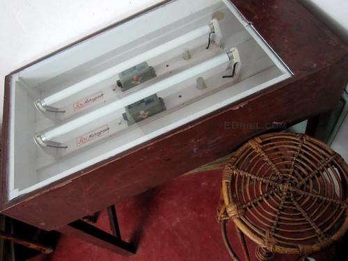 developing table for silkscreen negs
