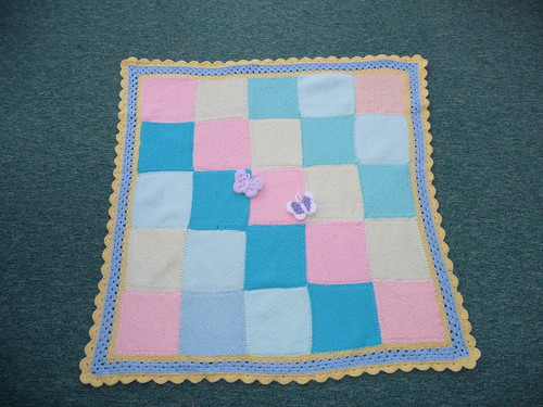 Assembled by Sally and the squares were from two Craft Groups here in the UK.