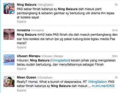 Twitter Ning Baizura Pas Bertudung