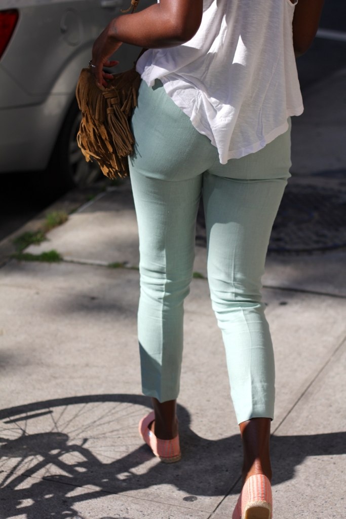 pastel color pants