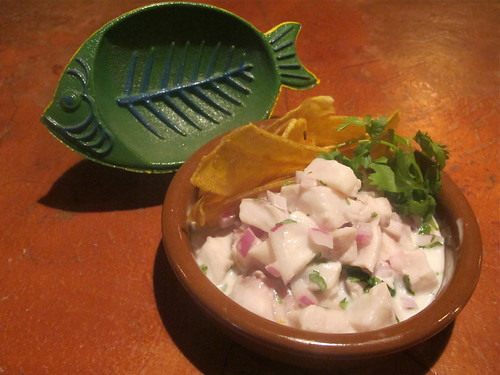 Panamanian Ceviche: Drum fish in lime juice, coconut milk, cilantro, onions & fresh ginger. Photo by Melanie Merz.