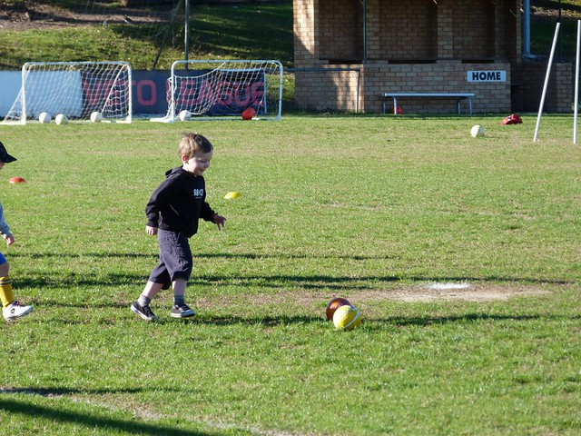 First soccer skills day