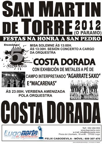 O Páramo 2012 - Festas de San Pedro en San Martín do Páramo - cartel