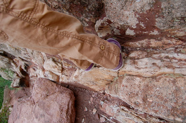 Toe hold - Climbing at Red Rocks, Boulder, CO
