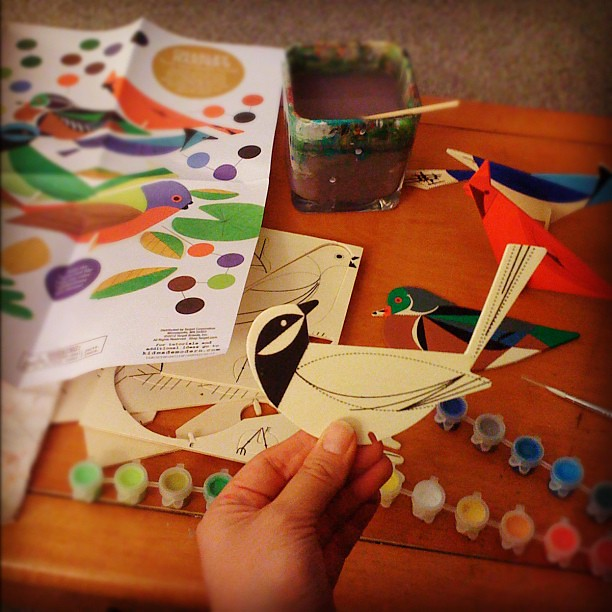 Some late night crafting with #kidmademodern and #charleyharper