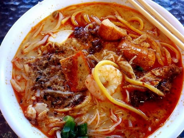 Laksa from Hawkers Delight, Subiaco