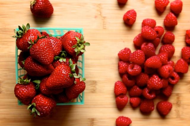 strawberry raspberry quick jam