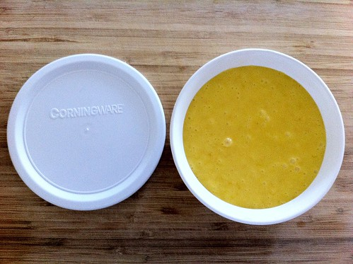 Room Temperature Curd Added to F-15-B Corning Ware