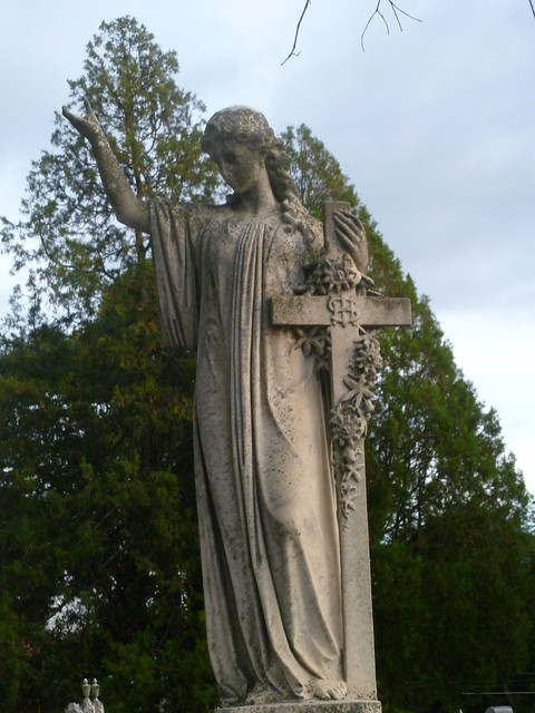 Angel fo the Cash Symbol Crucifix
