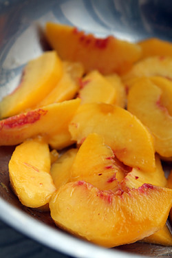 peaches for peach shortcake