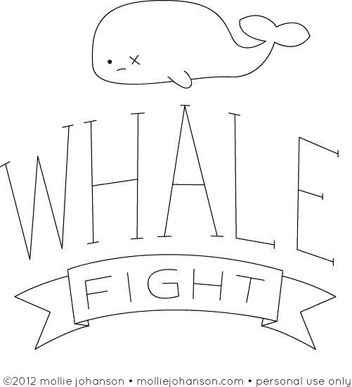 Whale Fight!