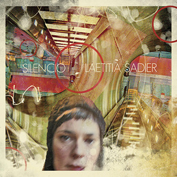The cover of Silencio, featuring a collage of images and light and a blurry photo of Sadier