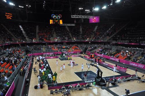 Baloncesto España - Brasil vs Londres 2012 - Vista de la pista
