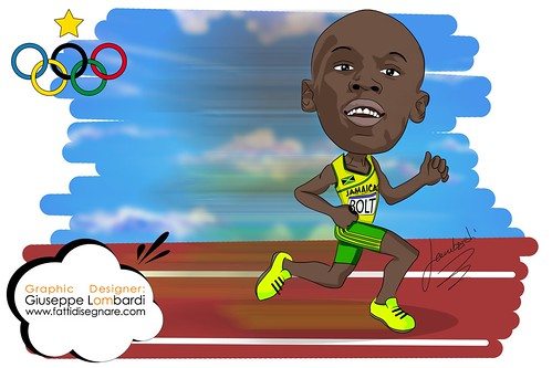 Caricatura Bolt by Giuseppe Lombardi