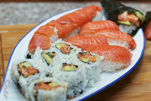 Spicy Salmon Rolls, and Hand Rolls