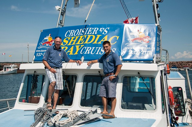 Captain Ron Cormier and Mate Rémi Gaudet of Lobster Tales Cruises