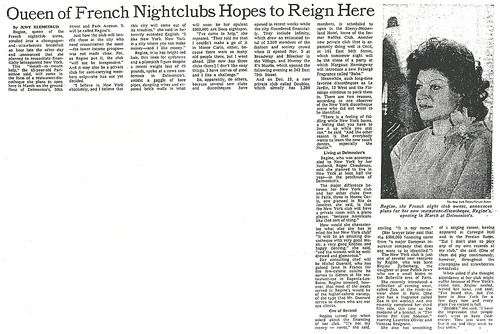 11/16/75 New York Times (Regine's)