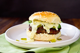 Stuffed Hatch Chile Cheeseburgers