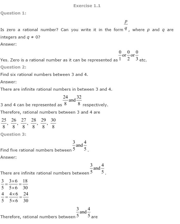 NCERT Solutions For Class 9 Maths Solutions Chapter 1 Number Systems PDF Download 2018-19