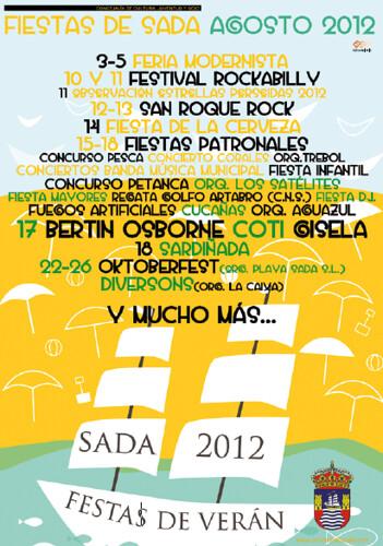 Sada 2012 - Festas patronais - cartel