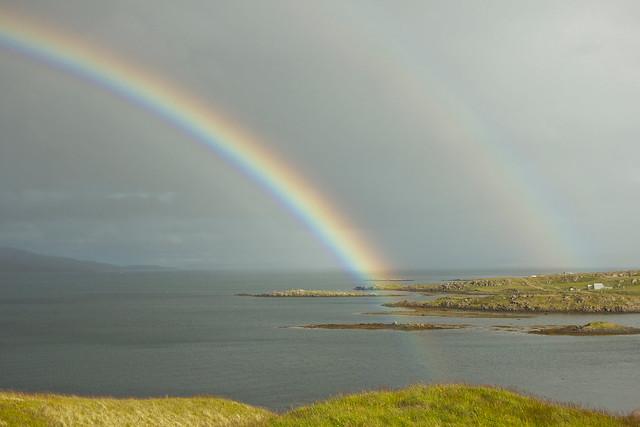Regnbogi í Steingrímsfirði á Ströndum / A Double Rainbow