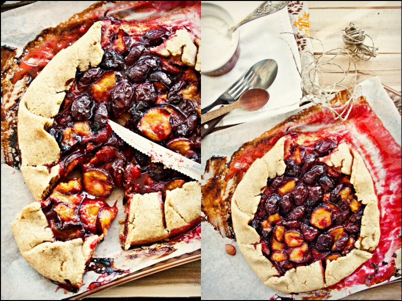 Rustic Plum Pie