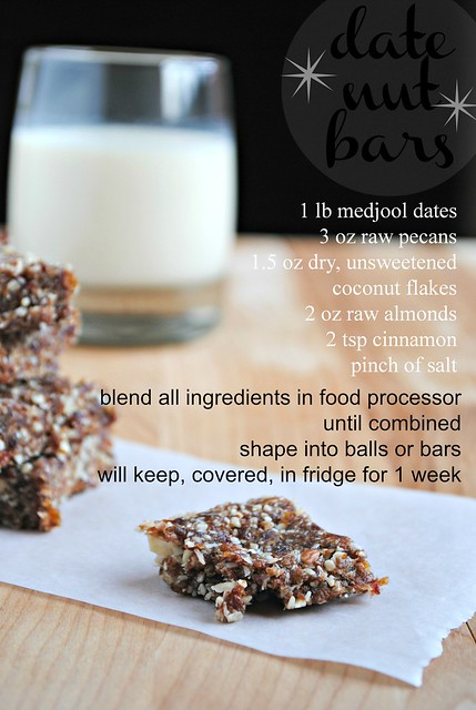date nut bars - recipe