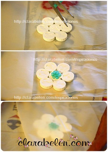 Como hacer posavasos con tapones de plástico reciclados