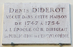 Photo of Denis Diderot white plaque