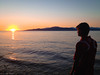 Watching the Sunset at Acadia Beach by Laríssa