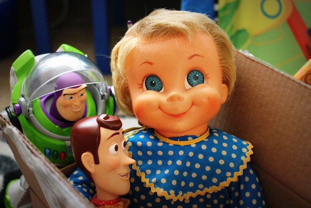 Buzz & Woody say bye to Mrs. Beasley
