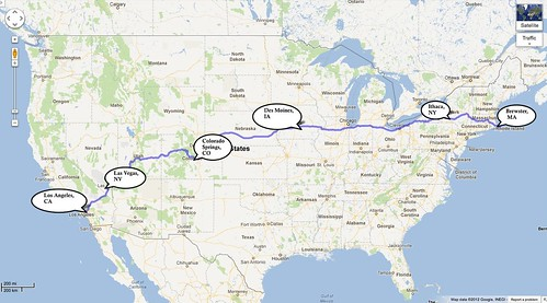 Map of the drive to LA